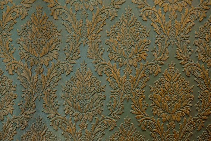 Vinylová Tapeta Zelená zlato stěna ornament textura pozadí - Grafika