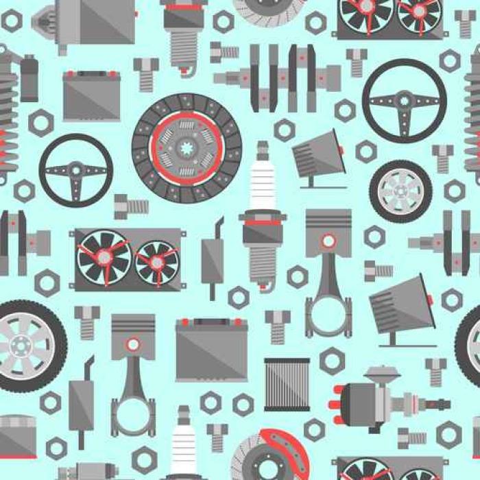 Papier Peint à Motifs Vinyle Pièces de rechange d'automobile seamless pattern - Transports