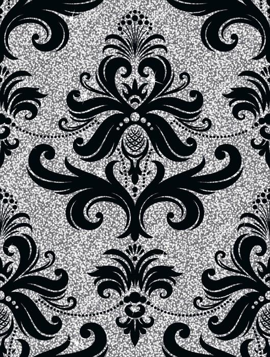 Vinilo pixerstick papel pintado floral de plata pixers - Papel pintado y vinilo ...