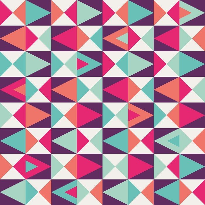 Seamless Geometric Pattern Wall Mural Pixers We Live
