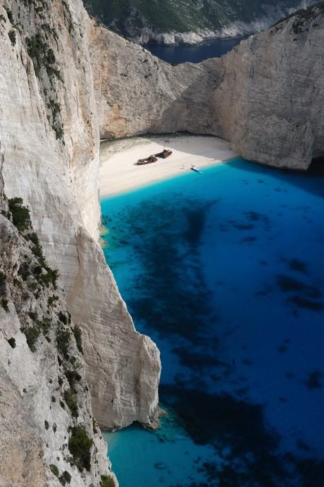 Vinylová Tapeta Shipwreck Beach, ostrov Zakynthos, Řecko - Evropa