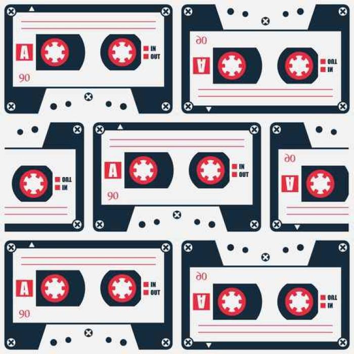 Fototapete retro stil kassettenbandmuster vektor 80er for Wohnzimmer 80er stil