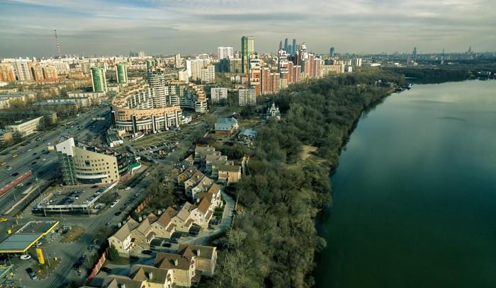 Vinylová Tapeta Letecký pohled na Moskvě Moskva řeky - Can-Am
