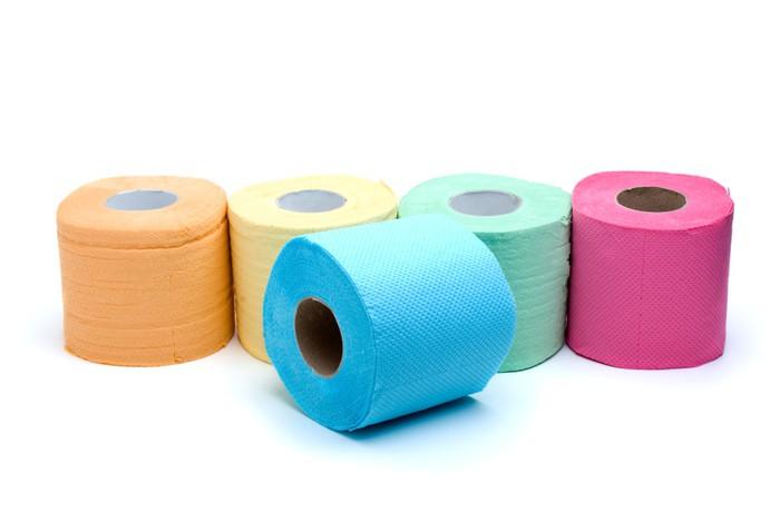 Rotoli Di Carta Colorata : Adesivo diversi rotoli di carta igienica colorata u pixers