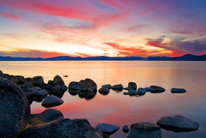 Vinylová Tapeta Lake Tahoe při západu slunce - Témata
