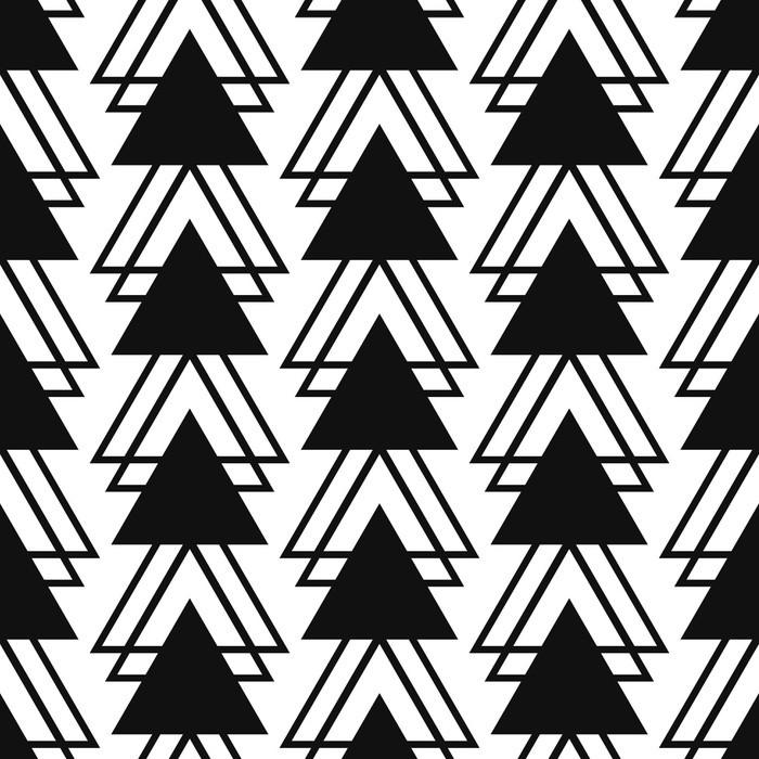 papier peint forme de triangle simple motif noir et blanc. Black Bedroom Furniture Sets. Home Design Ideas