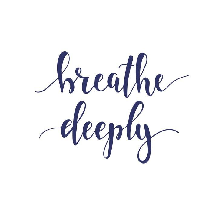 sticker respirer profond ment t shirt main lettrage conception calligraphique pixers nous. Black Bedroom Furniture Sets. Home Design Ideas
