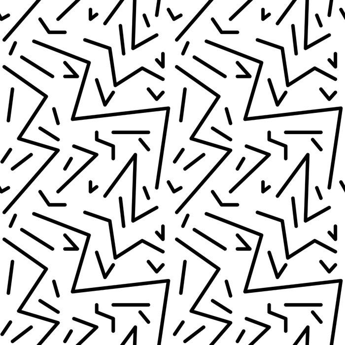 Carta da Parati in Vinile Reticolo geometrico senza giunte d'epoca in stile anni '80 retrò, Memphis. Ideale per design del tessuto, stampa di carta e sito web sfondo. file vettoriale EPS10 - Risorse Grafiche