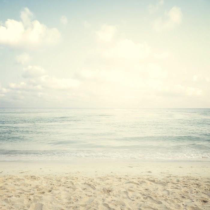 Vintage tropisk strand om sommeren Vinyl fototapet - Landskaber
