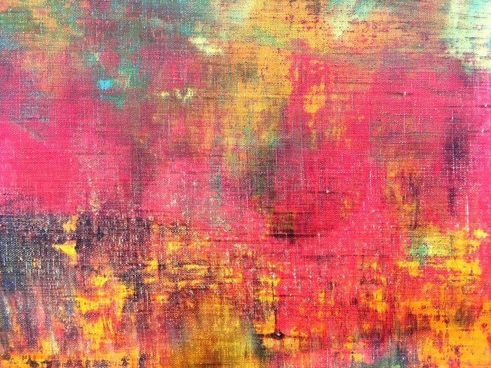 abstract colorful hand painted canvas texture background Wall Mural
