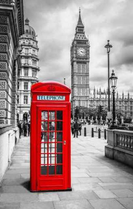Vinylová Tapeta Telefonzelle v Londýně - Cestování
