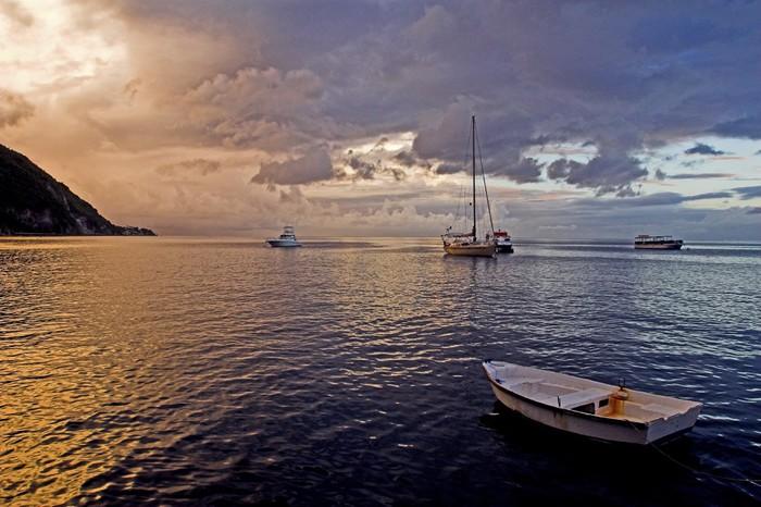 Nálepka Pixerstick Západ slunce v Karibiku - Nebe