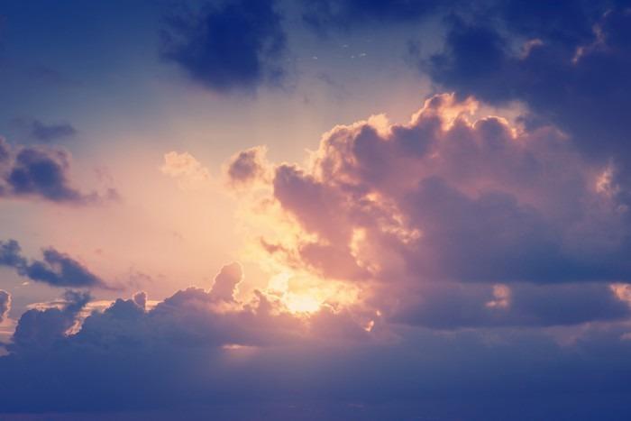 Vinylová fototapeta Slunečné oblohy na pozadí v retro stylu vintage - Vinylová fototapeta