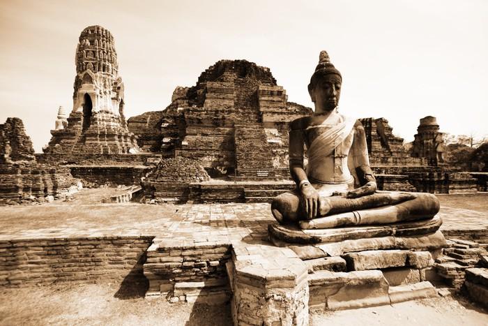 fototapete denkm ler von buddah ruinen von ayutthaya alte hauptstadt von thailand pixers. Black Bedroom Furniture Sets. Home Design Ideas
