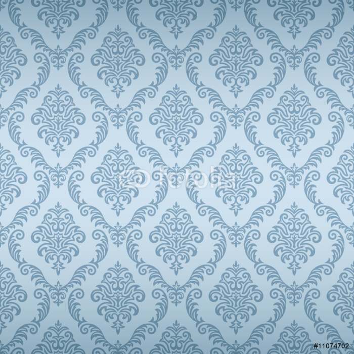 Seamless damask wallpaper wall mural pixers we live for Damask wall mural