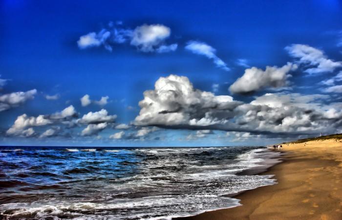 Vinylová Tapeta Sandstrand wolkenhimmel - Nebe