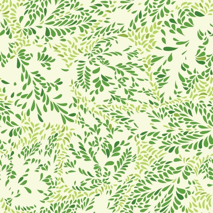 Vinylová Tapeta Květinový vzor Listy texturami kachlová pozadí Okrasné floururish abstrakci - Grafika