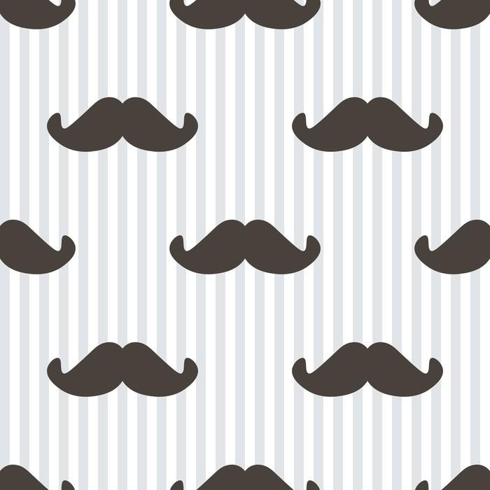 papier peint design plat vecteur hippie moustache et. Black Bedroom Furniture Sets. Home Design Ideas