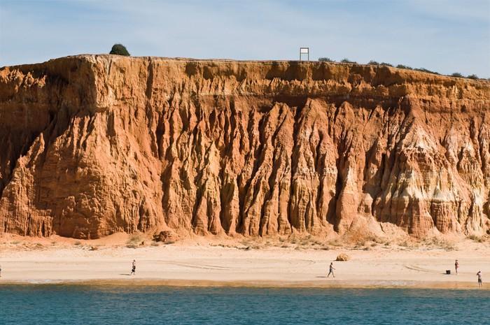 Vinylová Tapeta Pláž Cliff Beach, Algarve, Portugalsko - Voda