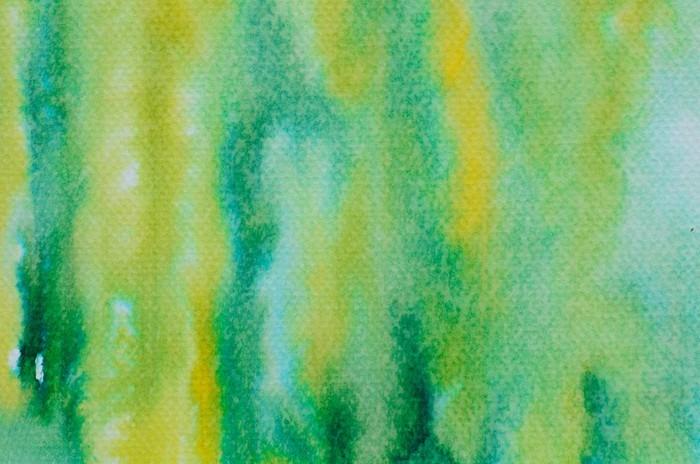 Fototapet av Vinyl Grön vattenfärg målad bakgrund - Grafiska resurser