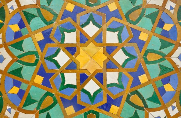 Sticker oosterse mozaïek decoratie in casablanca marokko u pixers