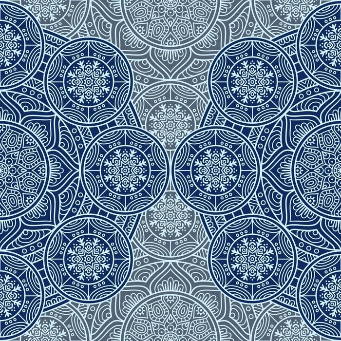 Nálepka Pixerstick Etnický květinový vzor bezešvé - Grafika