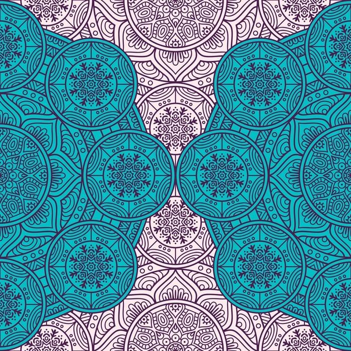 Samolepicí Fototapeta Etnický květinový vzor bezešvé - Grafika