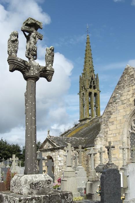 Vinylová Tapeta Argol kostel a křížová cesta - Brittany - Veřejné budovy