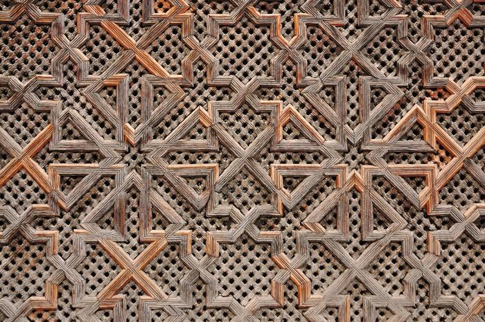Vinylová fototapeta Dřevěný orientální výzdoba v Maroku - Vinylová fototapeta
