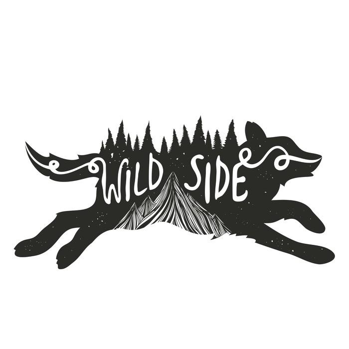 decalque de parede poster tipografia com o funcionamento de lobo