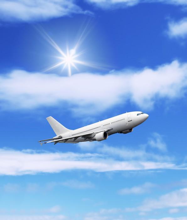 Vinylová Tapeta Letadla: letadla ve velké modré obloze - Vzduch