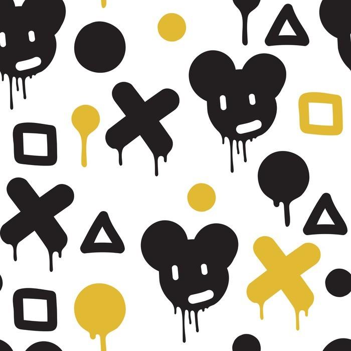 Vinylová Tapeta Graffiti - bezešvé vzor - Koníčky a volný čas
