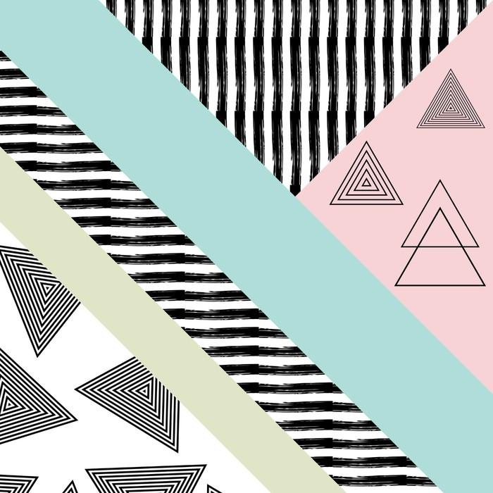 Sticker Pixerstick Abstract main motif géométrique dessiné - Ressources graphiques