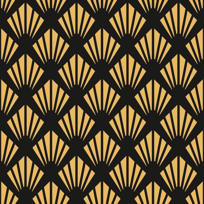 Papel pintado patr n de papel tapiz vintage art deco sin for Papel pintado art deco