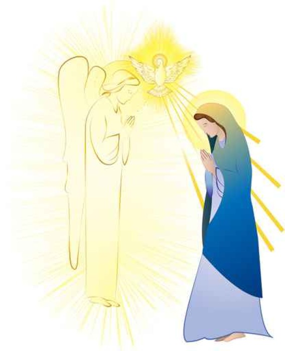 Annunciation to the Blessed Virgin Mary, conception by the Holy ...