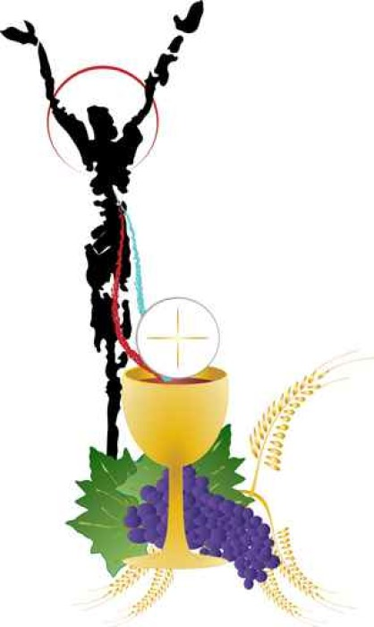 Eucharist Symbols Of Bread And Wine Chalice And Host With