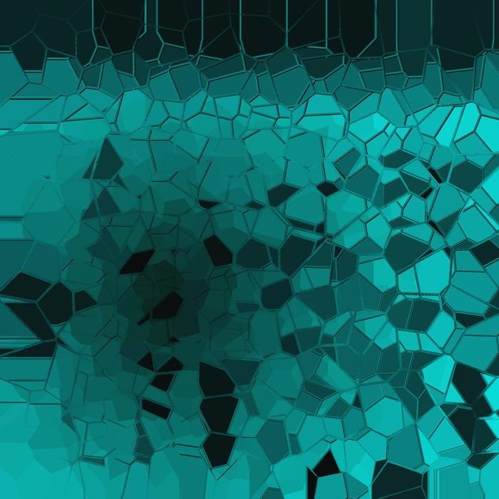 Vinylová Tapeta Abstraktní modré geometrický vzor na pozadí - Grafika
