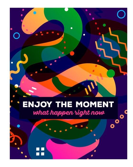 Vinylová Tapeta Vektorové ilustrace barevné abstraktní kompozice s textem stáčen - Grafika