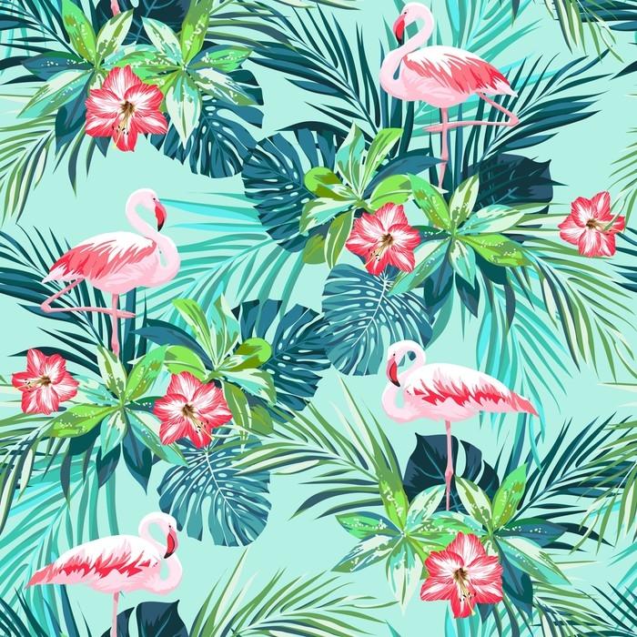 papier peint mod le sans couture d 39 t tropical avec des. Black Bedroom Furniture Sets. Home Design Ideas