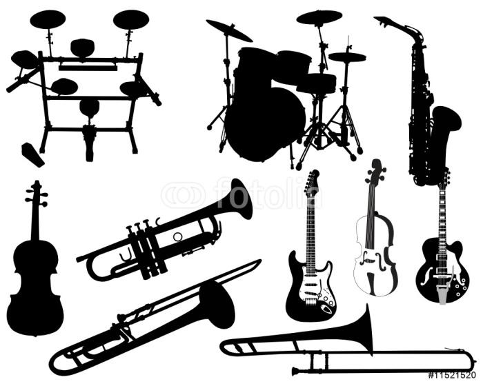 Vinilo pixerstick conjunto de instrumentos musicales for Vinilos decorativos instrumentos musicales