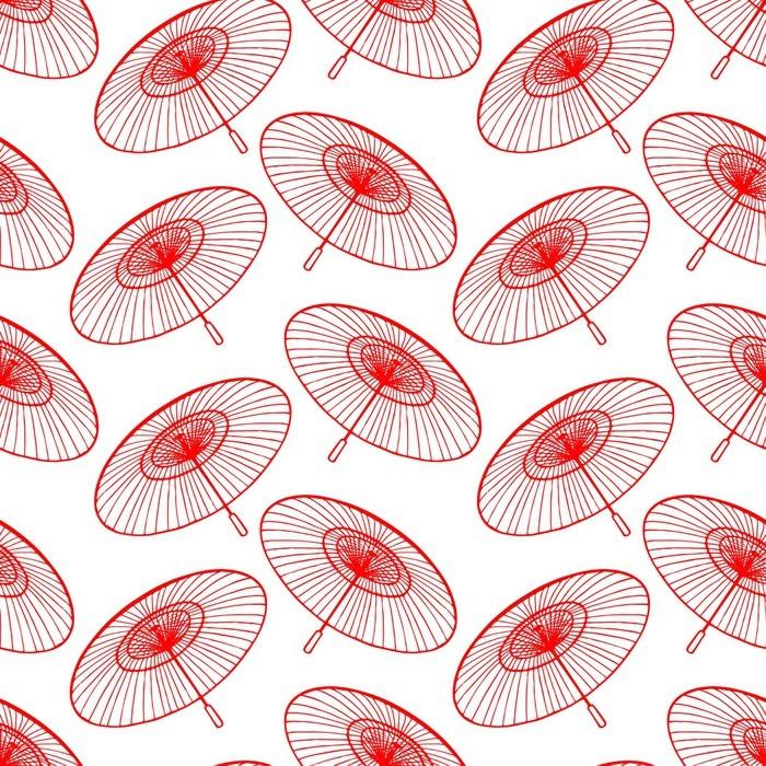 Çıkartması Pixerstick Kırmızı Japon şemsiye - Grafik kaynakları