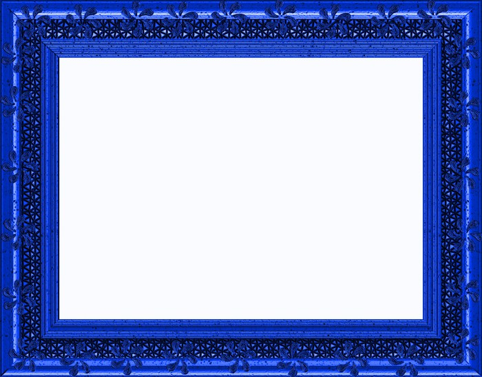Special Royal Blue Frame Landscape Isolated Copyspace