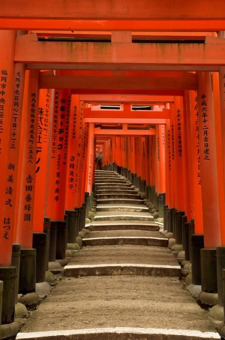 Vinylová Tapeta Torii brány Fushimi Inari svatyně, Kyoto, Japonsko - Témata
