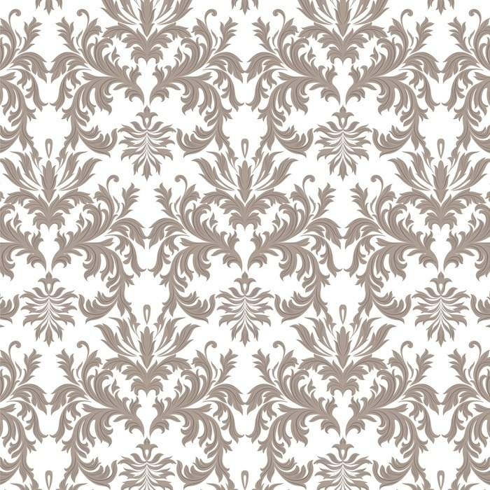 Vector Baroque Vintage Floral Damask Pattern Luxury