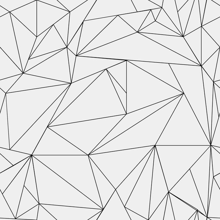 Papier peint g om trique simple motif minimaliste noir et - Papier peint geometrique triangles noir et blanc gris ...