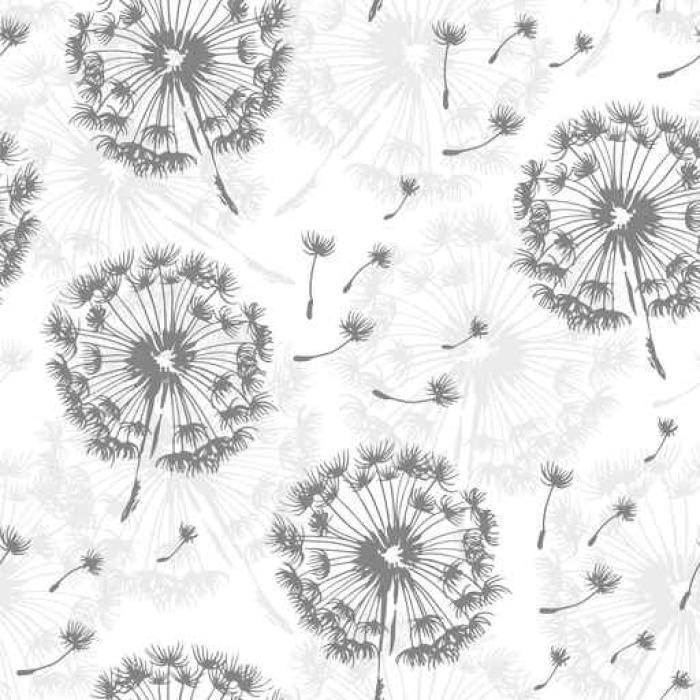 Vinylová Tapeta Bezešvé pampeliška vzorem, vektorové bezproblémové pozadí - Rostliny a květiny