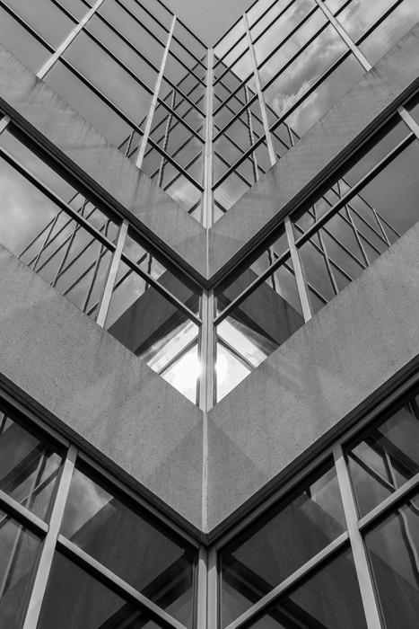 Moderne Architektur Schwarz Und Weiss Beton Glas Abstrakte Inspiration Kunstlerische Bild BW Bilder Sicht