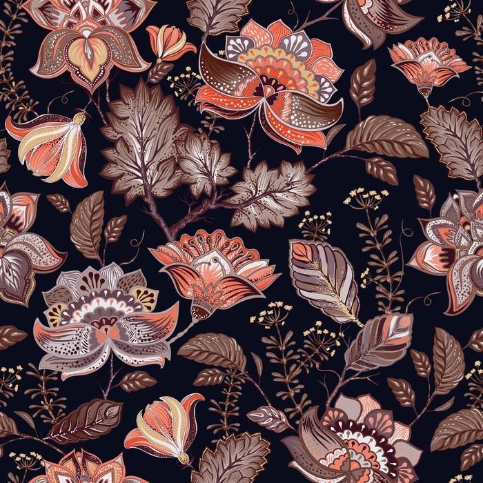 Carta da parati vintage seamless fiori sfondo in stile for Carta da parati stile provenzale