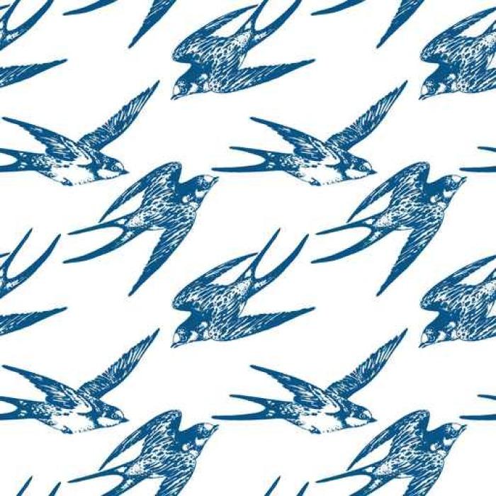 tableau sur toile vector dessin la main dessin e mod le de motif sans couture des oiseaux. Black Bedroom Furniture Sets. Home Design Ideas