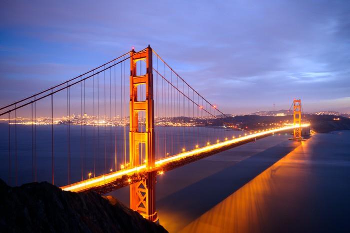 Vinylová Tapeta Golden Gate Bridge z baterie Spencer pohledu - Americká města